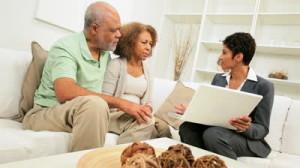 Retired Couple Meeting With Financial Advisor CWAN
